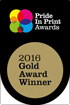 2016 Gold Award Winner Medal